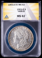 1901-O Morgan Silver Dollar, VAM-62 (ANACS MS62) at PristineAuction.com