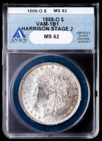 1888-O Morgan Silver Dollar, VAM-1B1 Harrison Stage 2 (ANACS MS62) at PristineAuction.com