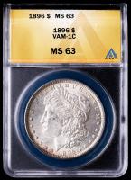 1896 Morgan Silver Dollar, VAM-1C (ANACS MS63) at PristineAuction.com