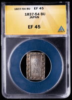 1837-54 Japan 1 Bu Shogunate Silver Coin (ANACS EF45) at PristineAuction.com