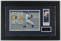 Julio Urias Signed Dodgers 15.5x23.5 Custom Framed Debut Game Ticket Display (JSA COA) at PristineAuction.com
