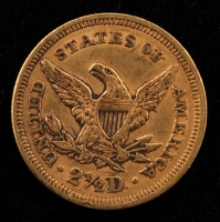 1856 $2.50 Liberty Head Quarter Eagle Gold Coin at PristineAuction.com