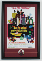 "The Beatles ""Yellow Submarine"" 15x22 Custom Framed Photo Display with Vintage Beatles Movie Release Pin at PristineAuction.com"