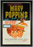 "Julie Andrews & Dike Van Dyke Signed Walt Disney's ""Mary Poppins"" 30.5x44.5 Custom Framed Display at PristineAuction.com"