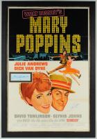 "Julie Andrews & Dick Van Dyke Signed Walt Disney's ""Mary Poppins"" 30.5x44.5 Custom Framed Display at PristineAuction.com"
