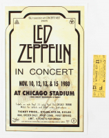 Set of (2) Led Zeppelin Concert Items with (1) Concert Ticket & (1) 11x17 Concert Poster Print (Chicago Stadium Corporation LOA) at PristineAuction.com