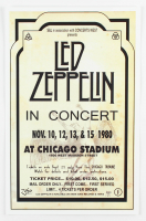 Led Zeppelin Concert 11x17 Concert Poster Print (Chicago Stadium Corporation LOA) at PristineAuction.com