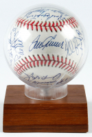 1969 Mets ONL Baseball Team-Signed by (24) With Tom Seaver, Nolan Ryan, Tug McGraw, Donn Clendenon With Display Case (JSA LOA) at PristineAuction.com