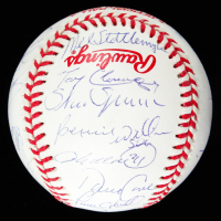 Yankees 1998 World Series Baseball Team-Signed by (24) With Derek Jeter, Mariano Rivera, Joe Torre, Tim Raines With 3-Time Champs Display Case (JSA LOA) at PristineAuction.com