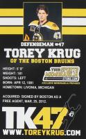 Torey Krug Signed Bruins Jersey (Krug COA) at PristineAuction.com