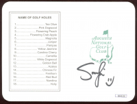 Smylie Kauffman Signed Augusta National Golf Club Score Card (JSA COA) at PristineAuction.com