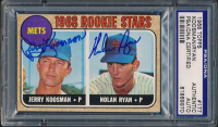 Nolan Ryan & Jerry Koosman Signed 1968 Topps #177 Rookie Stars (PSA Encapsulated) at PristineAuction.com