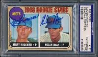 Nolan Ryan & Jerry Koosman Signed 1968 Topps #177 Rookie Stars (PSA Encapsulated) at PristineAuction.com