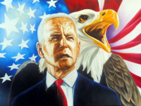 "Hector Monroy ""Joe Biden"" 24x32 Oil Painting on Canvas at PristineAuction.com"