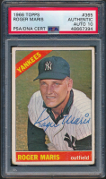 Roger Maris Signed 1966 Topps #365 (PSA Encapsulated) at PristineAuction.com