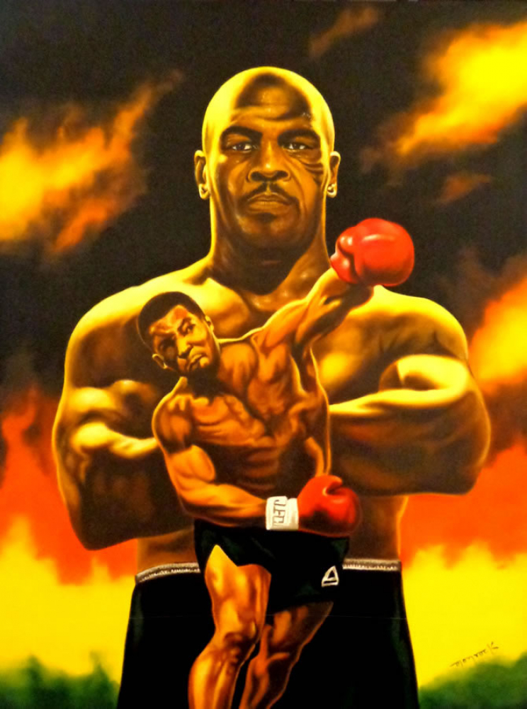 """Hector Monroy """"Mike Tyson"""" 24x32 Oil Painting on Canvas at PristineAuction.com"""