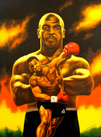 "Hector Monroy ""Mike Tyson"" 24x32 Oil Painting on Canvas at PristineAuction.com"