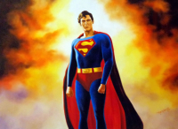 "Hector Monroy ""Christopher Reeve"" 24x32 Oil Painting on Canvas at PristineAuction.com"
