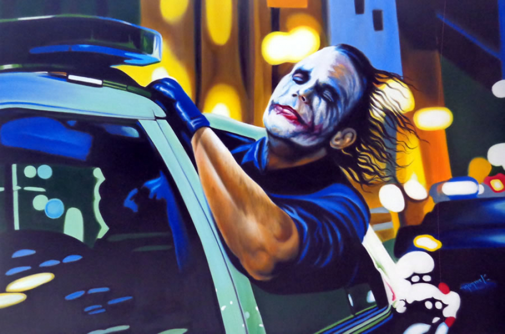 """Hector Monroy """"Heath Ledger"""" 24x36 Oil Painting on Canvas at PristineAuction.com"""