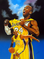 "Hector Monroy ""Kobe Bryant"" 24x32 Oil Painting on Canvas at PristineAuction.com"