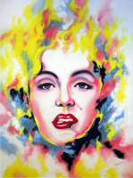 "Hector Monroy ""Marilyn Monroe"" 24x32 Oil Painting on Canvas at PristineAuction.com"