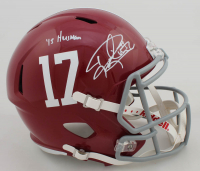 "Derrick Henry Signed Alabama Crimson Tide Full-Size Speed Helmet Inscribed ""'15 Heisman"" (Beckett COA) at PristineAuction.com"