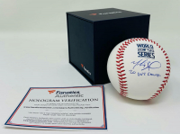 """Mookie Betts Signed 2020 World Series Baseball Inscribed """"20 WS Champs"""" (Fanatics Hologram & MLB Hologram) at PristineAuction.com"""
