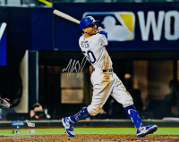Mookie Betts Signed Dodgers 16x20 Photo (Fanatics Hologram & MLB Hologram) at PristineAuction.com