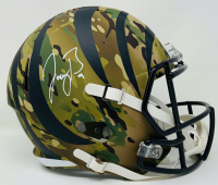 Joe Burrow Signed Bengals Full-Size Camo Speed Helmet (Fanatics Hologram) at PristineAuction.com