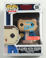 """Millie Bobby Brown Signed """"Stranger Things"""" #16 Eleven with Eggos Funko Pop! 8-Bit Vinyl Figure Inscribed """"011"""" (Beckett COA) at PristineAuction.com"""