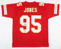 "Chris Jones Signed Jersey Inscribed ""SB LIV Champs"" (Beckett COA) at PristineAuction.com"