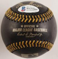 Steve Garvey Signed OML Black Leather Baseball with (7) Career Stat Inscriptions (Beckett COA) at PristineAuction.com