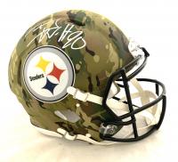 T.J. Watt Signed Steelers Full-Size Authentic On-Field Camo Alternate Speed Helmet (Beckett COA) at PristineAuction.com