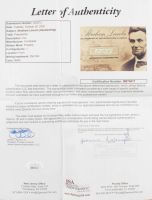 Abraham Lincoln 4x6 Custom Encapsulated Hand-Written Word (JSA LOA) at PristineAuction.com