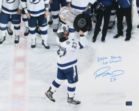 """Ryan McDonagh Signed Lightning 16x20 Photo Inscribed """"2020 Stanley Cup Champion"""" (McDonagh COA) at PristineAuction.com"""