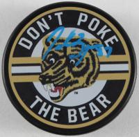 Patrice Bergeron Signed Bruins Logo Hockey Puck (YSMS COA) at PristineAuction.com