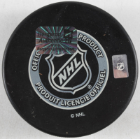 """Patrice Bergeron Signed Bruins Logo Hockey Puck Inscribed """"2011 Stanley Cup Game Winning Goal"""" (YSMS COA) at PristineAuction.com"""