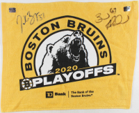 Patrice Bergeron & Brad Marchand Signed Bruins 2020 Playoffs Towel (YSMS COA) at PristineAuction.com