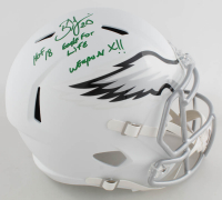 Brian Dawkins Signed Eagles Full-Size Matte White Speed Helmet With Multiple Inscriptions (JSA COA) at PristineAuction.com