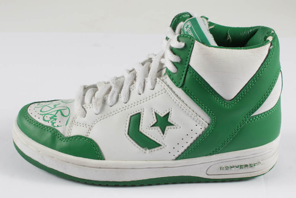 Larry Bird Signed Converse All-Star Shoe with Display Case (PSA ...