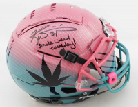 "Ricky Williams Signed Full-Size Authentic On-Field Hydro-Dipped F7 Helmet Inscribed ""Smoke Weed Everyday!"" With Visor (Beckett COA) at PristineAuction.com"