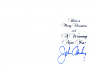 John Candy Signed Christmas Card (JSA COA) at PristineAuction.com