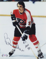 """Bill Barber Signed Flyers 8x10 Photo Inscribed """"HOF 90"""" (PSA COA) at PristineAuction.com"""