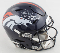 "John Elway Signed Denver Broncos Full-Size Authentic On-Field SpeedFlex Helmet Inscribed ""2X SB Champs!"" & ""SB XXXIII MVP"" (Beckett COA) at PristineAuction.com"