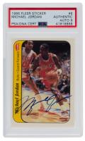 Michael Jordan Signed 1986-87 Fleer Stickers #8 (UDA Hologram & PSA Encapsulated) at PristineAuction.com