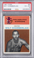 Wilt Chamberlain 1961-62 Fleer #8 RC (PSA 4) at PristineAuction.com