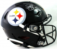 """Troy Polamalu Signed Steelers Full-Size Authentic On-Field Speedflex Helmet Inscribed """"HOF 20"""" (Beckett COA) at PristineAuction.com"""