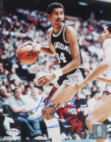 """George Gervin Signed Spurs 8x10 Photo Inscribed """"Ice"""" (PSA COA) at PristineAuction.com"""
