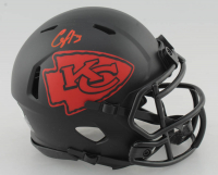 Clyde Edwards-Helaire Signed Chiefs Eclipse Alternate Speed Mini Helmet (Beckett COA) at PristineAuction.com