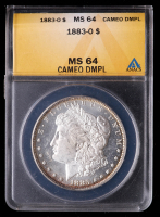 1883-O Morgan Silver Dollar (ANACS MS64 Cameo Deep Mirror Proof Like) at PristineAuction.com